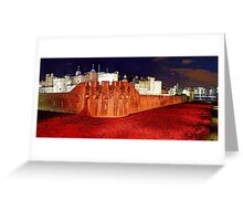 The Tower of London Poppies - 1 Greeting Card