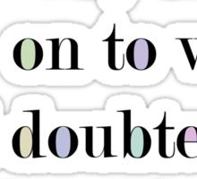 Two Roads Sticker