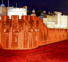 The Tower of London Poppies - 1 Sticker