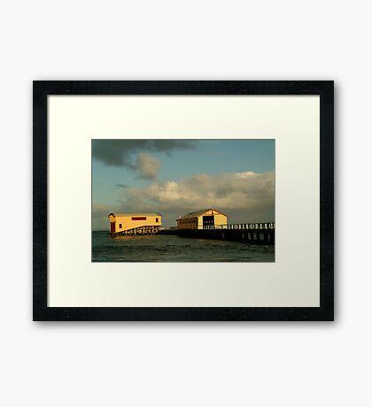 Passing Storm, Queenscliff Pier Framed Print