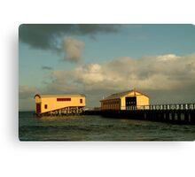 Passing Storm, Queenscliff Pier Canvas Print