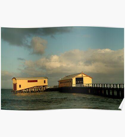Passing Storm, Queenscliff Pier Poster