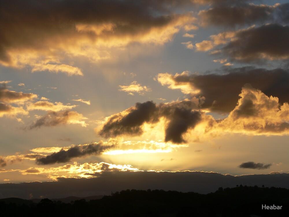 Golden Sunset ~~ East coast of N.S.W. Australia by Heabar