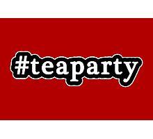 Tea Party - Hashtag - Black & White Photographic Print