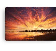 Splendour Of Dawn - Lake Albert, Meningie Canvas Print