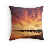 Splendour Of Dawn - Lake Albert, Meningie Throw Pillow