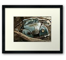 Austin A70 Hampshire Ute , Portrait Framed Print