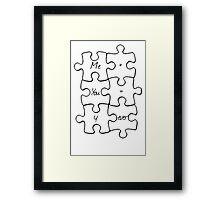 We Fit Together - B&W Framed Print