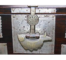 Antique Korean Bed Linens Chest - Fish Shaped Lock Photographic Print