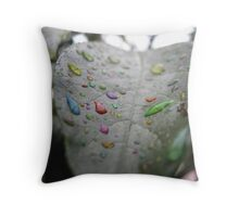 Liquid Imagination - Rainbow Cloud Juice Series Throw Pillow