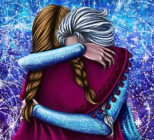 Anna and Elsa ~Frozen by Kimberly Castello