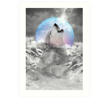 Maybe the Wolf Is In Love with the Moon Art Print