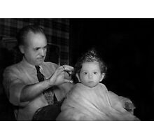 Barber - First Haircut Photographic Print