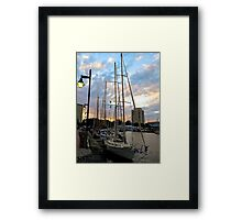 Schooners Docked at Sunset    (1424109466VA) Framed Print