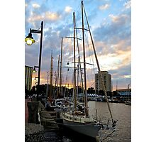 Schooners Docked at Sunset    (1424109466VA) Photographic Print
