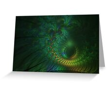 Peacock Sunset Greeting Card