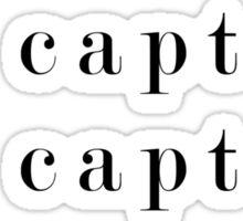 O Captain, My Captain (Serif Black) Sticker