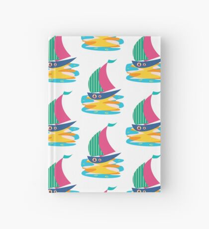 Summer Sailing Ship  Hardcover Journal