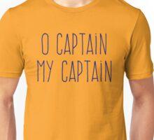 O Captain, My Captain (Handwriting Blue) Unisex T-Shirt