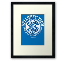 Gallifrey Tech - College Wear 01 Framed Print