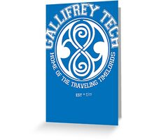 Gallifrey Tech - College Wear 01 Greeting Card