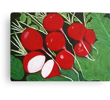 THE RADISHES Canvas Print