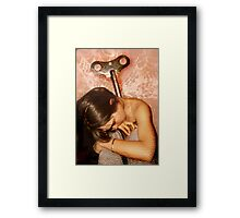 human condition -tired Framed Print