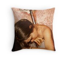 human condition -tired Throw Pillow