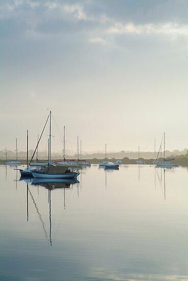 Misty Morning, Swan Bay Queenscliff by Joe Mortelliti