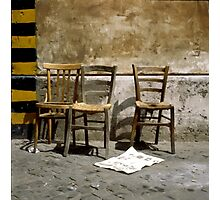 Three Chairs painting brush strokes Photographic Print