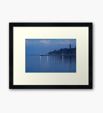 Twin Lighthouses in the Mist,Queenscliff Framed Print