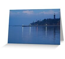 Twin Lighthouses in the Mist,Queenscliff Greeting Card