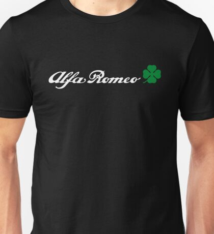 Alfa Romeo Quadrifoglio (blanco) Unisex T-Shirt