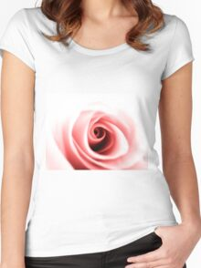 Rose close up Women's Fitted Scoop T-Shirt