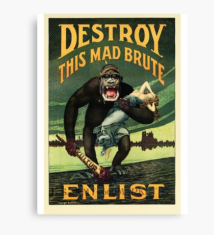 Enlist WWII Canvas Print