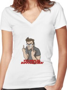 TECHNICAL DIFFICULTIES - Markiplier Women's Fitted V-Neck T-Shirt