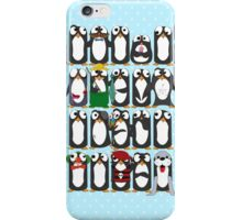 Here Be Penguins iPhone Case/Skin