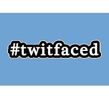 Twitfaced - Hashtag - Black & White Photographic Print