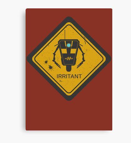 Caution: Irritant Canvas Print