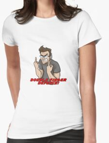 DOUBLE FINGER DEFENCE - Markiplier Womens Fitted T-Shirt