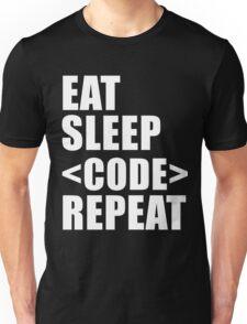 Eat Sleep Code Repeat Sport Shirt Funny Cute Gift For Computer Programmer Team Player Unisex T-Shirt