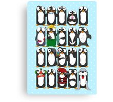 Here Be Penguins Canvas Print