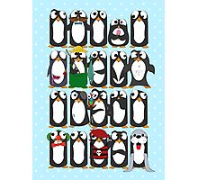 Here Be Penguins Photographic Print