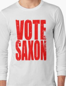 VOTE SAXON (the Master) Long Sleeve T-Shirt