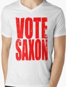 VOTE SAXON (the Master) Mens V-Neck T-Shirt