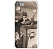 A truly twisted trucker , complete with cigarette . iPhone Case/Skin