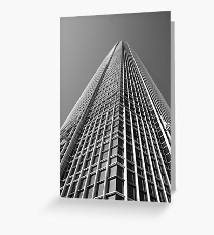 Looking Up v1 - IFC2, Hong Kong Greeting Card