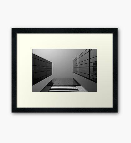 Looking Up v2 - Wan Chai, Hong Kong Framed Print