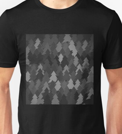 Black forest. Spruce forest illustration. Nature background of trees. Green trees texture. Wood drawings. Wanderlust. Adventure and nature Unisex T-Shirt