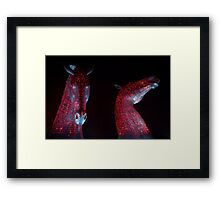 Red Kelpies (2014) Framed Print